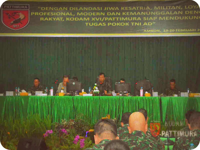 Kodam Pattimura Gelar Rapat Pimpinan 2018