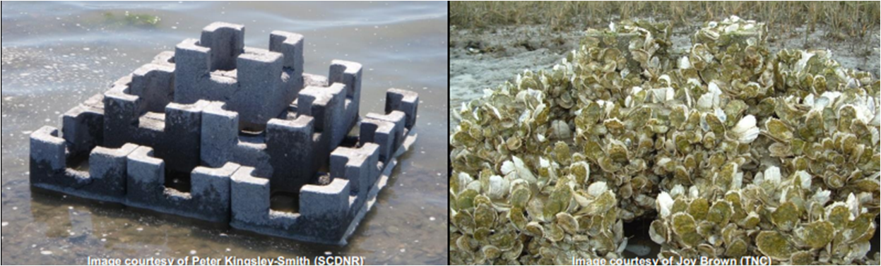 Oyster Castles - substrate for oyster restoration