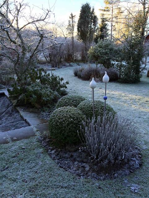 Trädgårdskonst på vintern