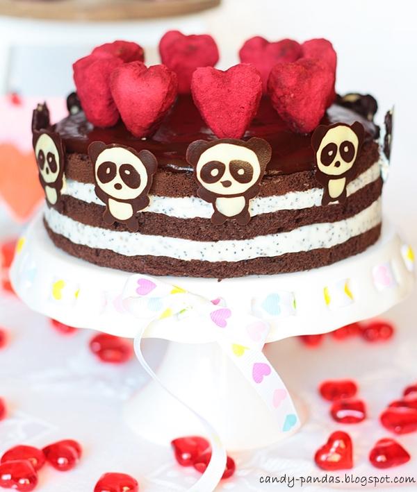 Kakaowo-kokosowy tort Walentynkowy (bez glutenu, cukru białego, laktozy)