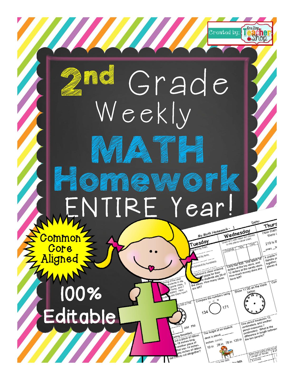 One Stop Teacher Shop Spiral Math Homework To Reinforce The Common Core Standards