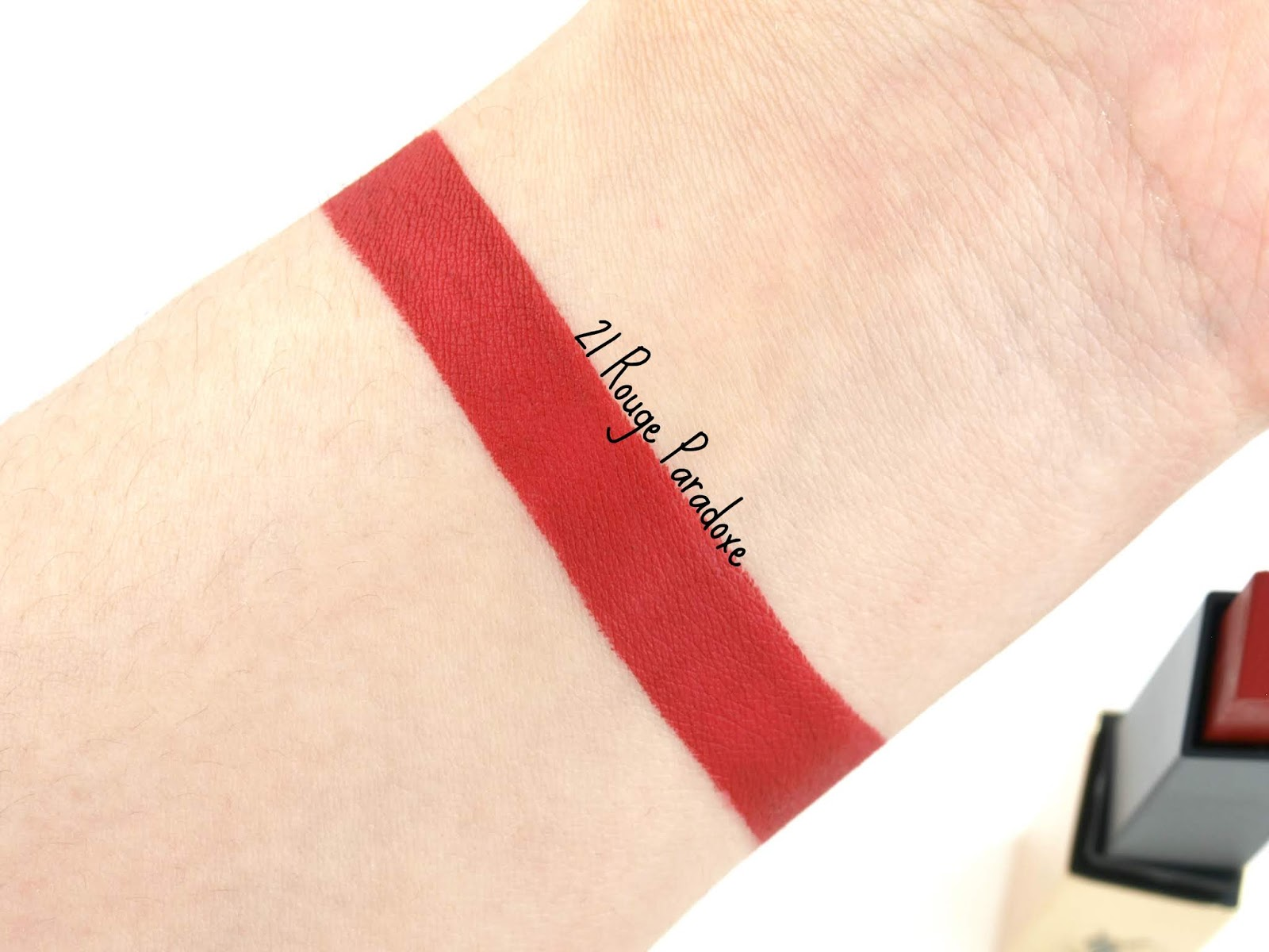 "Yves Saint Laurent | Rouge Pur Couture The Slim Matte Lipstick in ""21 Rouge Paradoxe"": Review and Swatches"