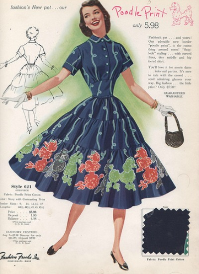 Fashion Frocks Style Card 1956