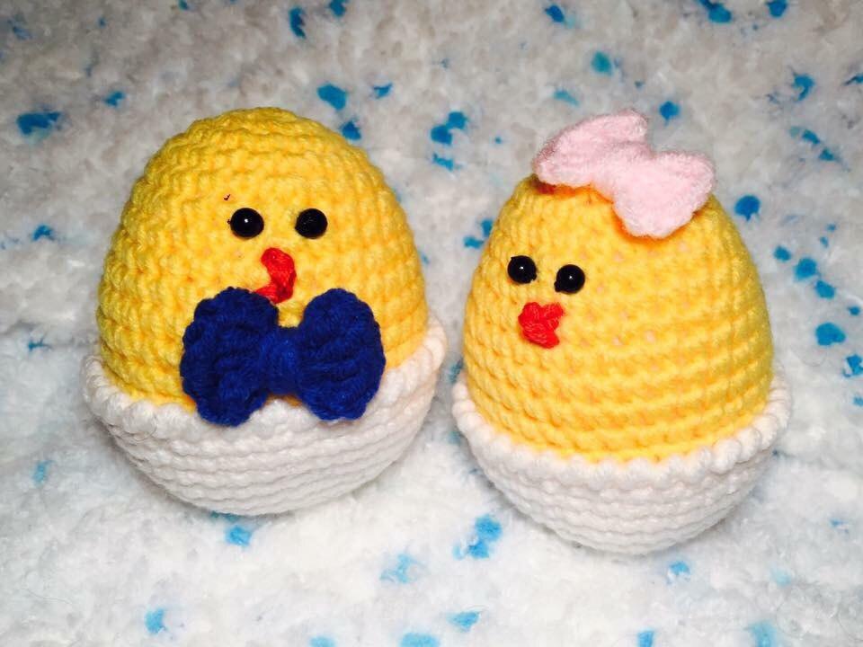 Polli di Pasqua di Amigurum.