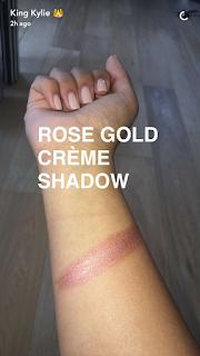 kylie jenner cosmetics new edition birthday line rose gold creme shadow