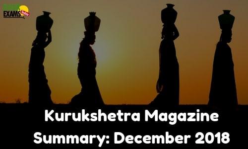 Kurukshetra Magazine Summary: December 2018
