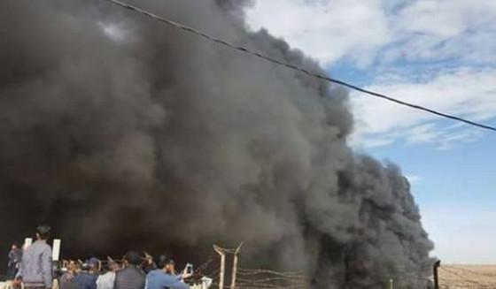 اولاد برحيل - حريق مهول يأتي على ثكنة عسكرية بالعيون بسبب انفجار خزانات الوقود