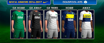 Kits Boca Juniors 2016-2017 Pes 2013 by DEADPOOL
