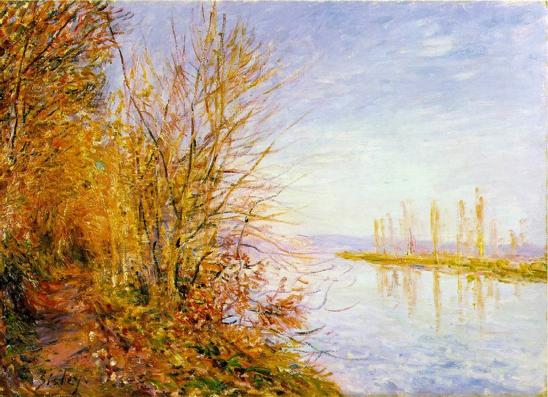 Oil Painting Style of Impressionist Painter Alfred Sisley