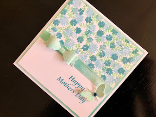Cardio Stamped Mothers Day Card with Die Cut 3D Bow