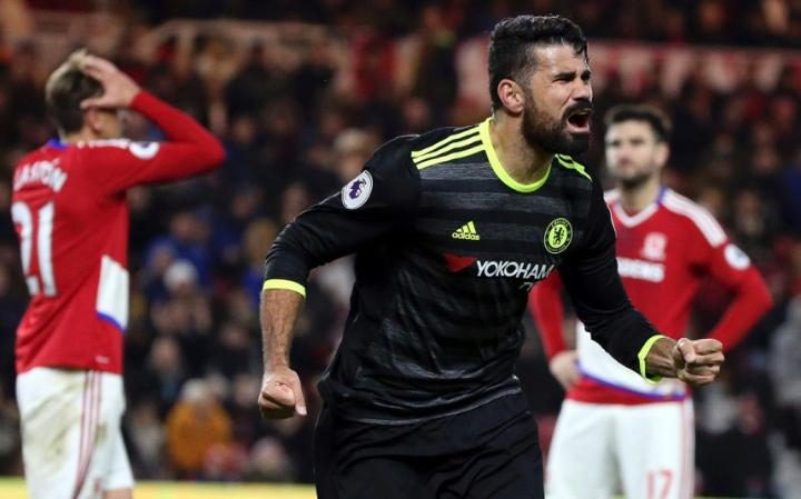 [EPL match] Middlesbrough 0 - Chelsea 1 : Costa's strike sends Chelsea top of League