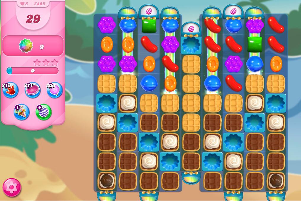 Candy Crush Saga level 7485