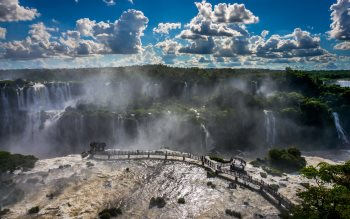 Wallpaper: Brazilian side of Iguazu Falls