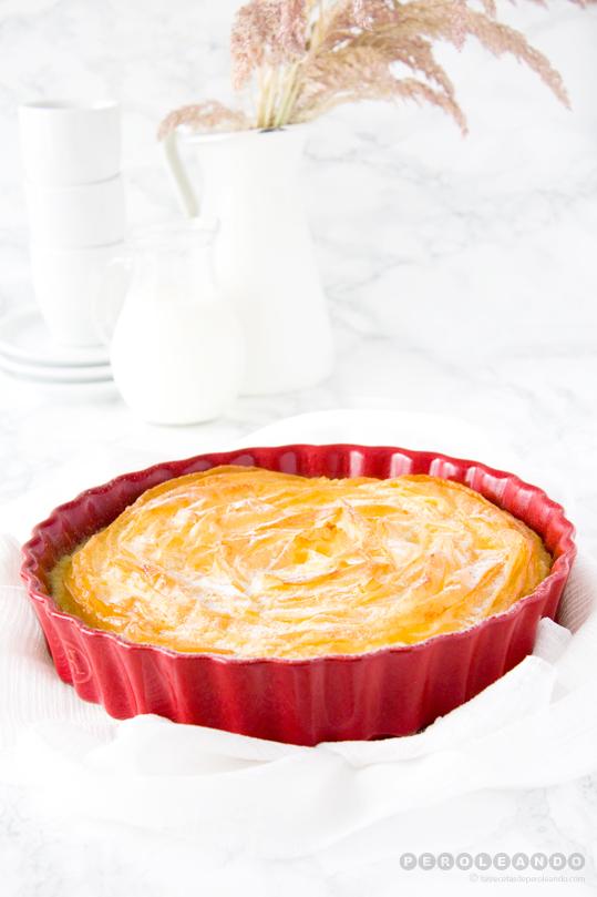 Ruffle milk pie