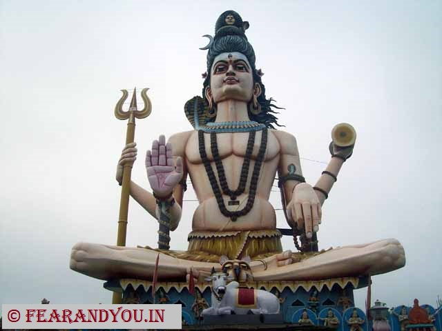 Lord Shiva statue at Omkareshwar