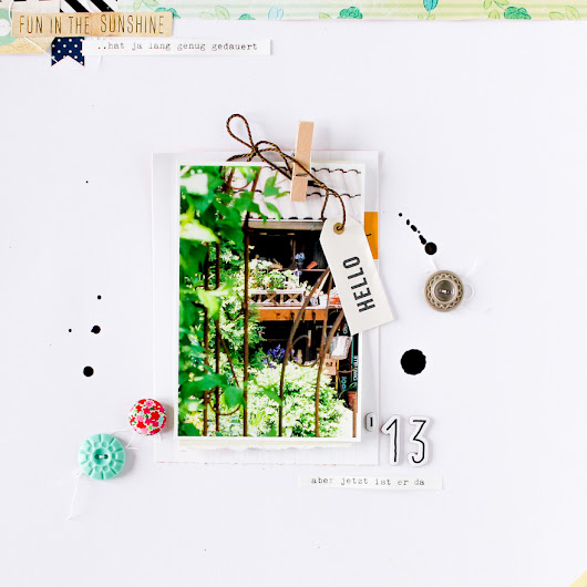 White Space als Designelement auf Scrapbooking Layouts
