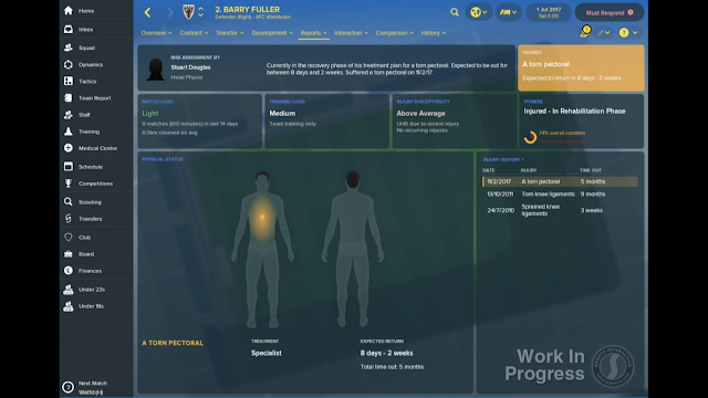 Individual Player Report in FM18