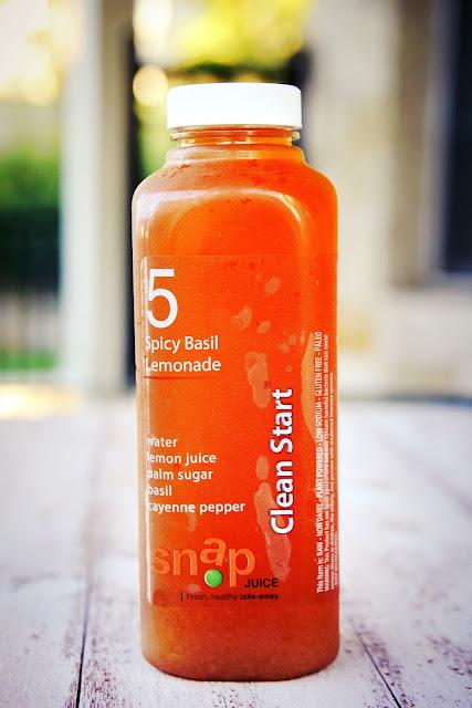 Snap Kitchen Spicy Basil Lemonade