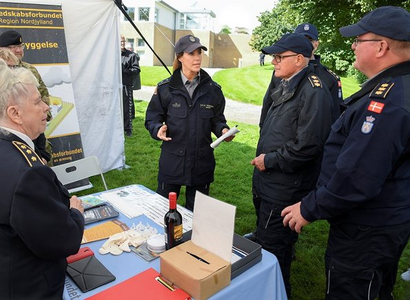 Princess Marie of Denmark attended the Civil Defense Day event held by Danish Emergency Management Agency (DEMA)