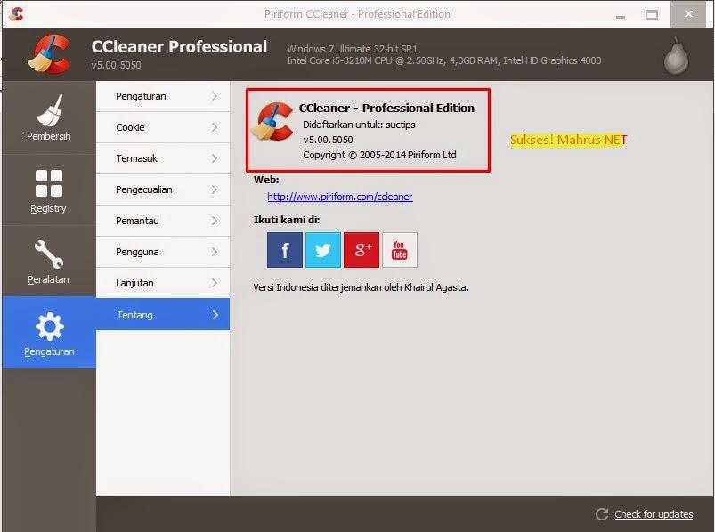 Serial Key Number PRO CCleaner 100% Working Terbaru ...