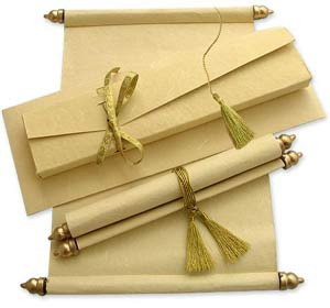 Indian Scroll Wedding Invitation