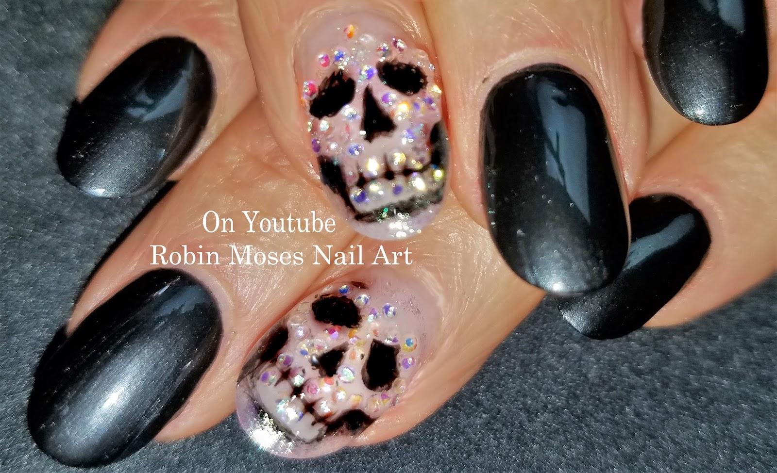 Nail Art by Robin Moses: Day of the Dead Nails | DIY Fall Sugar ...