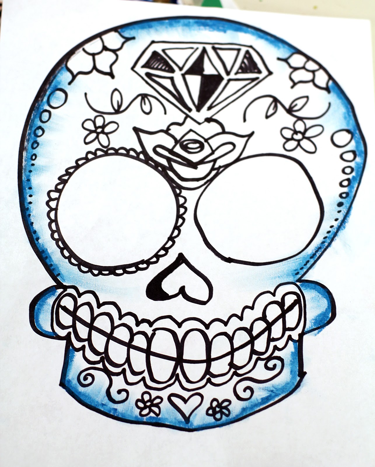 SmART Class Super Simple Step By Sugar Skulls Drawing