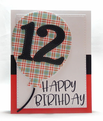 Our Daily Bread Designs Stamp Set: Big Birthday Bolds, Custom Dies: Big Balloon, Large Numbers,Pierced Rectangles, Paper Collection: Birthday Brights