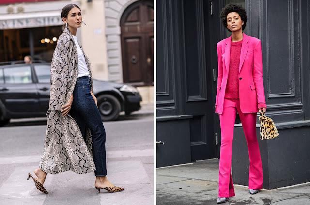 Розовый костюм с леопардовыми туфлями