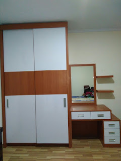 Lemari Pakaian, Meja Rias dan TV Display di Cibubur