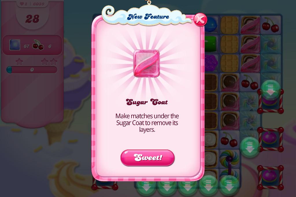 Candy Crush Saga blocker sugar coat