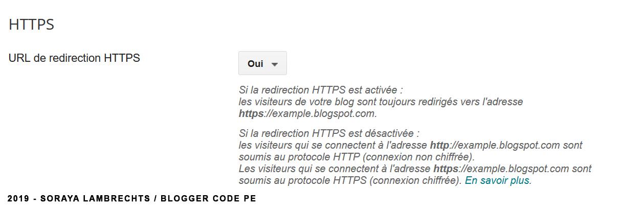 Réglage du protocole https.