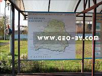 Музей паравозов в Бресте. Карта железных дорог Беларуси