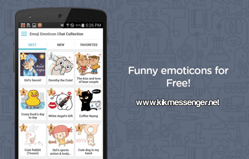 Comparte y diviertete con Free Emoticonos for Kik