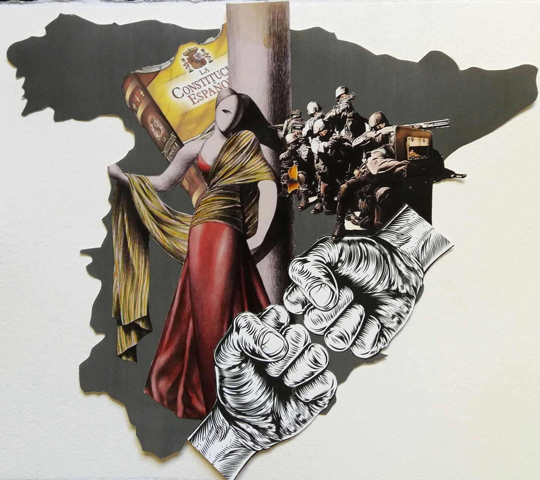 Collage en papel – Obra de María Vega – MoscoNews