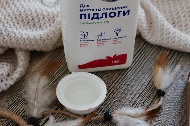 Средство для мытья пола с ароматом мяты Де Ла Марк