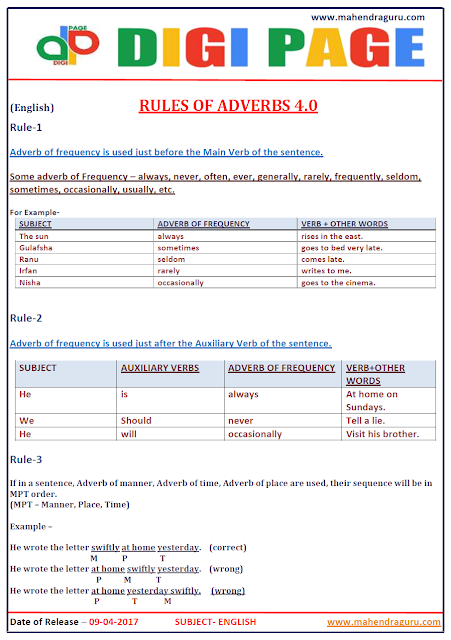 DP |  ADVERBS | 9 - APR - 17 | IMPORTANT FOR SBI PO