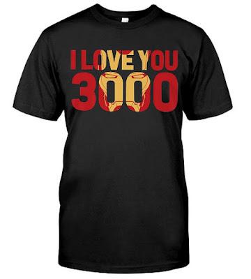 Marvel Avengers Endgame Iron Man I Love You 3000 T Shirts Hoodie Sweatshirt Sweater Tank Tops