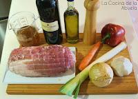 Lomo cerdo vino tinto receta guisado ingredientes