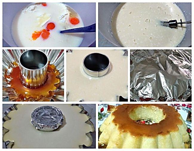 Preparación del flan napolitano con menos calorías