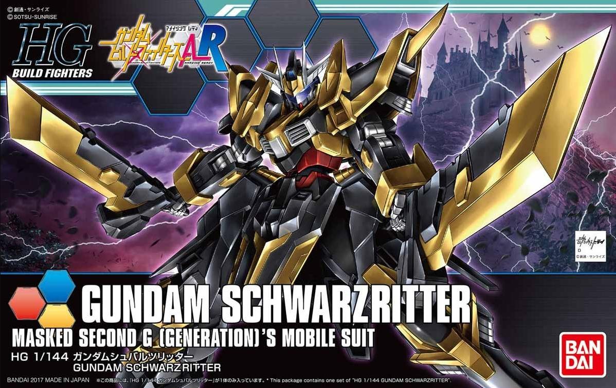 HGBF 1/144 Gundam Schwarz Ritter Box Art