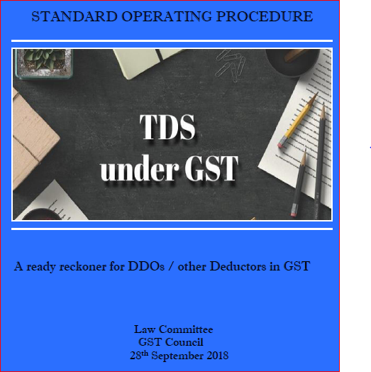 Standard Operating Procedure For DDO's On TDS Under GST W