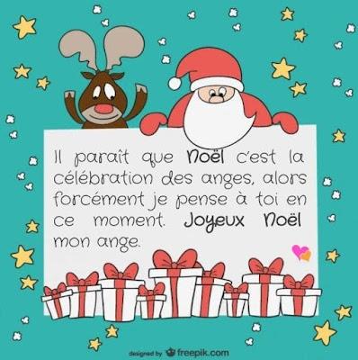 Carte de vœux Ange de Noël