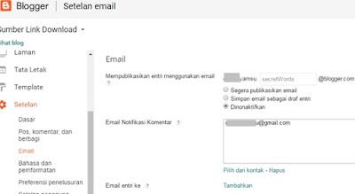Mengatur Setelan Email