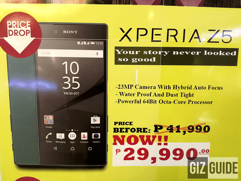 Sony Xperia Z5 on sale 29,990 Pesos only