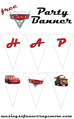 free cars party banner