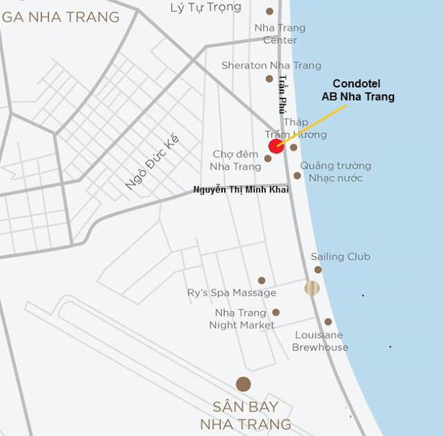vị trí condotel AB Central Square Nha Trang 0934136173