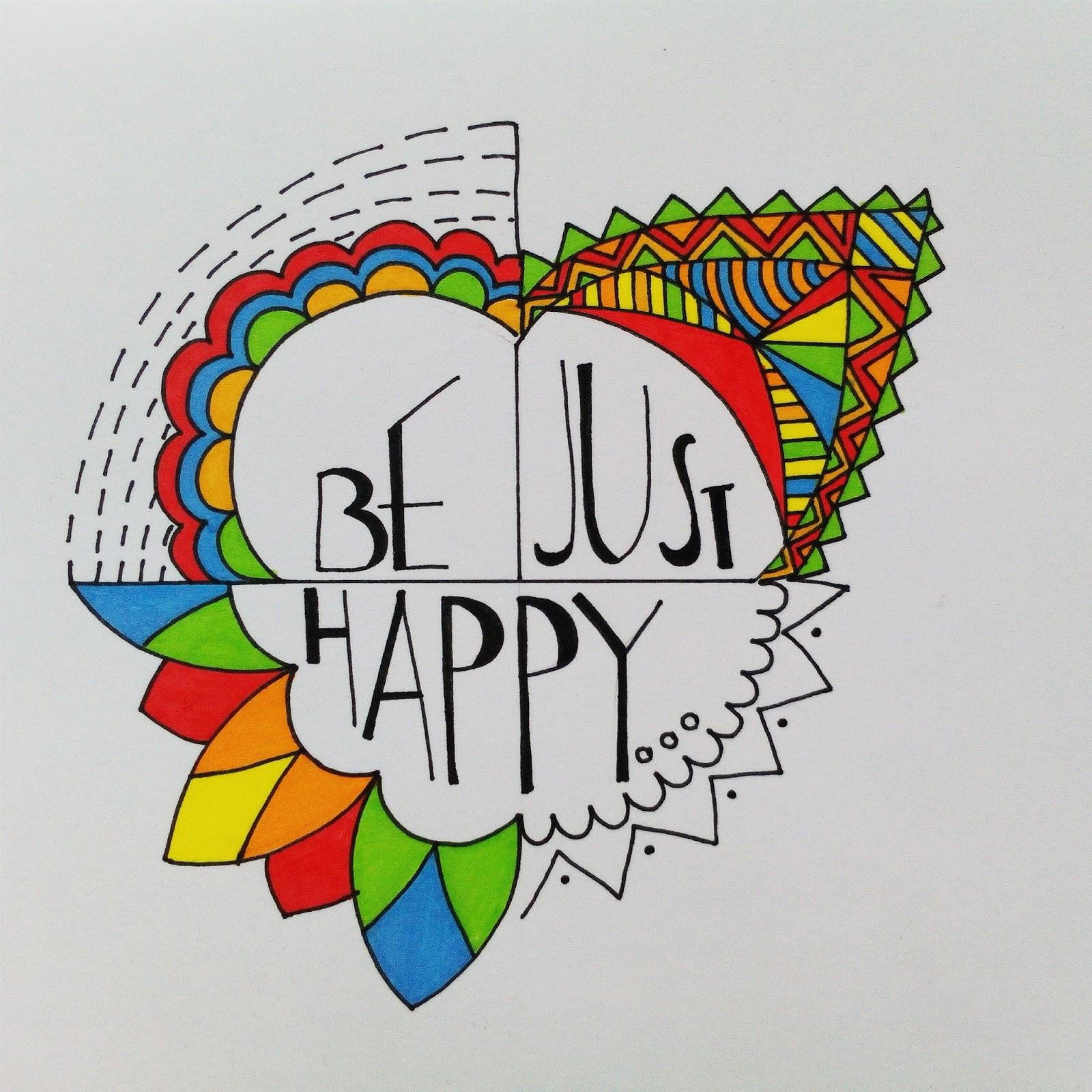 grafika Be just happy