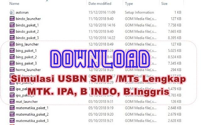 Simulasi USBN SMP MTs Lengkap Terbaru Matematika, IPA, B Indo B Inggris