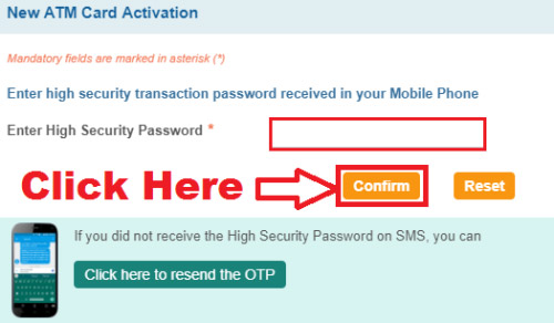 how to activate sbi atm card through online